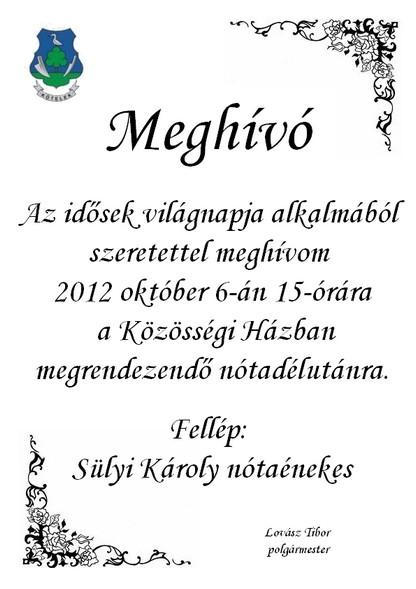 Idősek világnapja 2012